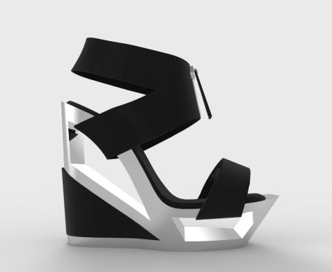 Zapato suela hueca metálica