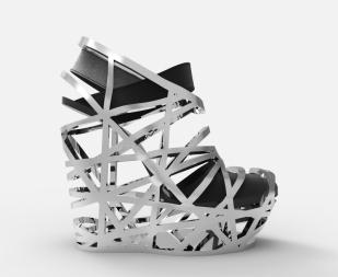 Zapato jaula metálica