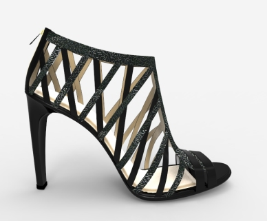 Sandalias negras grabado