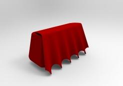 Bolso volantes rojos