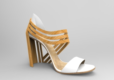 Sandalia madera blanca