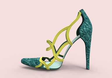 Stiletto verde y amarillo