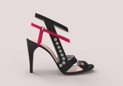 Sandalia negra con remaches