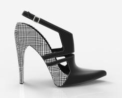 Zapatos tartán negro
